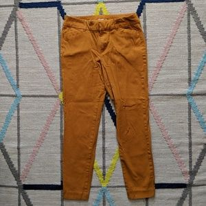 Old navy goldenrod yellow pixie pant size 4